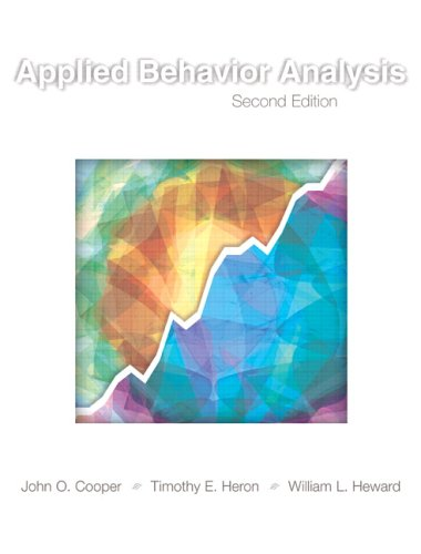 Applied Behavior Analysis  2nd 2007 (Revised) 9780131421134 Front Cover