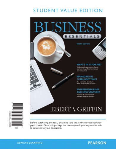 Student Value Edition for Business Essentials  9th 2013 edition cover