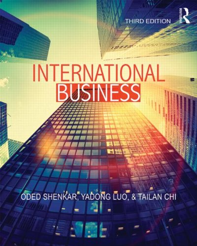 International Business Third Edition 3rd 2015 (Revised) edition cover