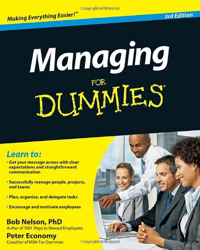 Managing for Dummies�  3rd 2010 edition cover