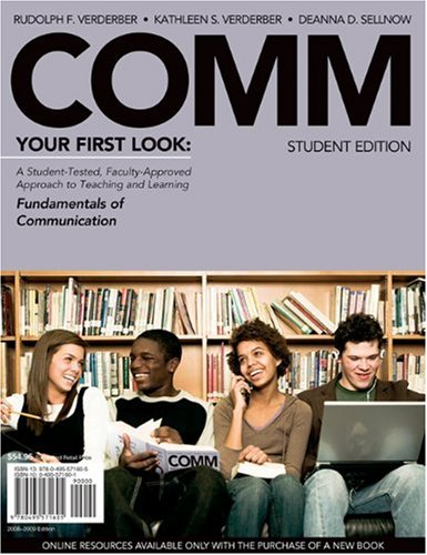 COMM 2008 Your First Look  2009 (Student Manual, Study Guide, etc.) edition cover
