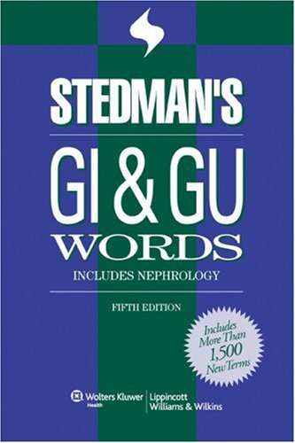 GI and GU Words Includes Nephrology 5th 2007 (Revised) edition cover