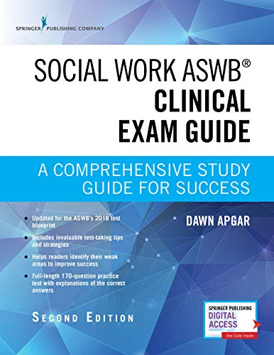 Social Work Aswb Clinical Exam Guide, Second Edition A Comprehensive Study Guide for Success 2nd 2018 9780826147134 Front Cover