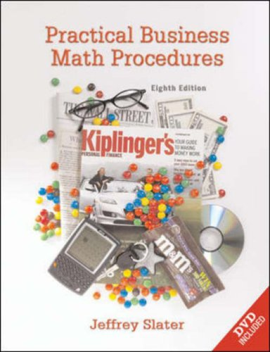 PRAC.BUS.MATH PROCEDURES-TEXT 8th 2006 edition cover