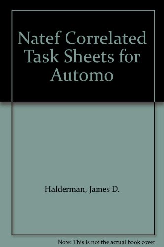 Natef Correlated Task Sheets for Automotive Electricity and Electronics:   2013 edition cover