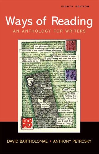 Ways of Reading An Anthology for Writers 8th 2008 edition cover