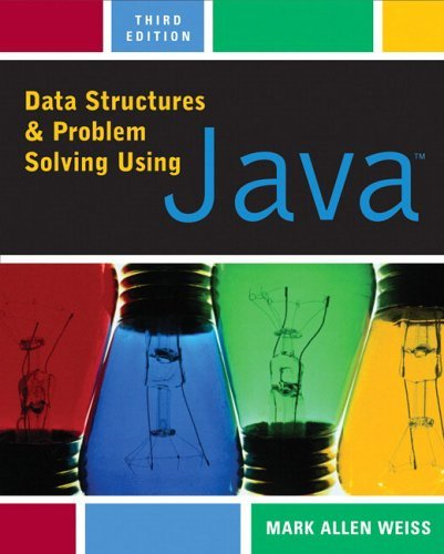 Data Structures and Problem Solving Using Java  3rd 2006 (Revised) edition cover