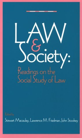 Law and Society Readings on the Social Study of Law  1995 edition cover