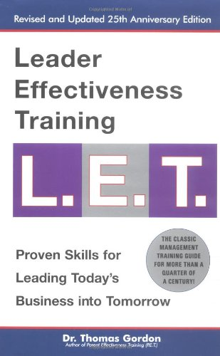 Leader Effectiveness Training   2001 (Revised) edition cover