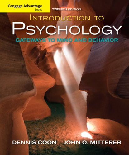 Introduction to Psychology Gateways to Mind and Behavior 12th 2010 9780495599135 Front Cover