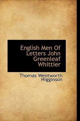 English Men of Letters John Greenleaf Whittier N/A edition cover