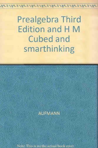 Prealgebra : With HM Cubed and Smarthinking 3rd 2002 9780618240135 Front Cover
