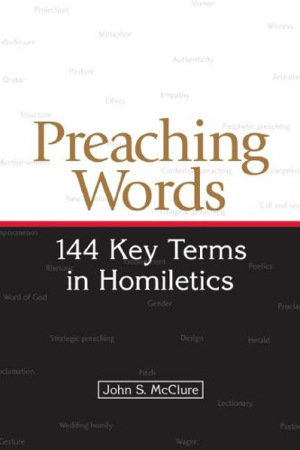 Preaching Words 144 Key Terms in Homiletics  2007 edition cover