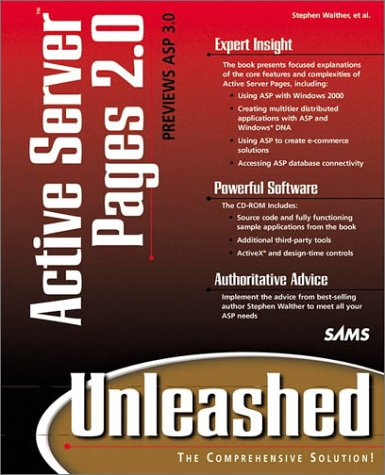 Active Server Pages 2.0 Unleashed  2nd 1999 9780672316135 Front Cover
