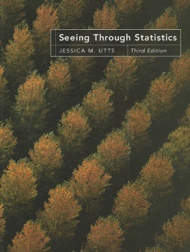 Seeing Through Statistics (Book Only)  3rd 2005 edition cover