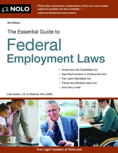 Essential Guide to Federal Employment Laws  4th 2013 edition cover