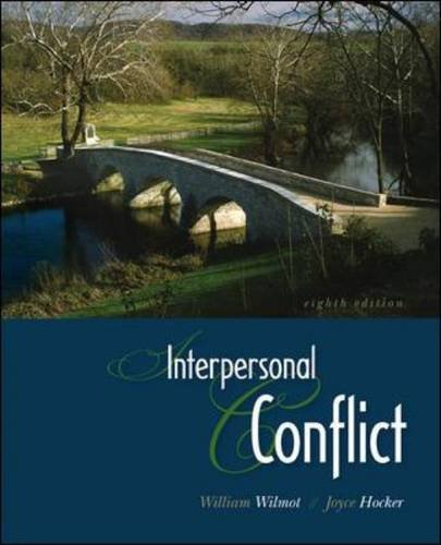 Interpersonal Conflict  8th 2011 edition cover