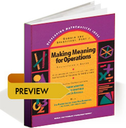 Developing Mathematical Ideas 2009: Numbers and Operations, Building a Systems of Tens  2009 edition cover