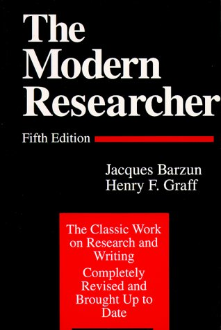 Modern Researcher  5th 1992 edition cover