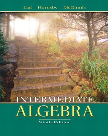 Intermediate Algebra  9th 2004 (Revised) 9780321127136 Front Cover