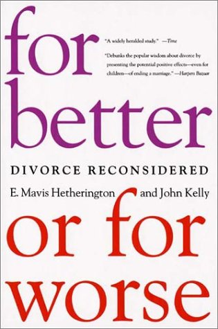 For Better or for Worse Divorce Reconsidered  2003 (Reprint) edition cover
