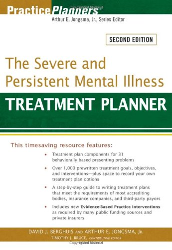 Severe and Persistent Mental Illness Treatment Planner  2nd 2008 edition cover