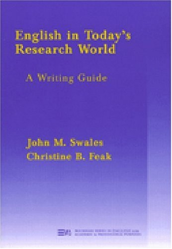English in Today's Research World A Writing Guide  2000 edition cover