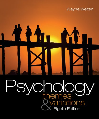 Psychology Themes and Variations 8th 2010 9780495604136 Front Cover
