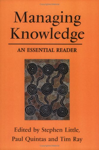 Managing Knowledge An Essential Reader  2001 9780761972136 Front Cover