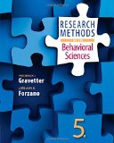 Research Methods for the Behavioral Sciences:   2015 edition cover