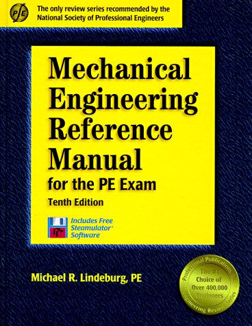 Mechanical Engineering Reference Manual for the PE Exam  10th 1997 edition cover
