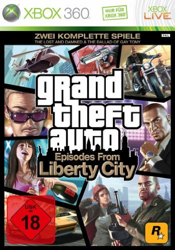 Grand Theft Auto - Episodes from Liberty City (TheLost and the Damned & The Ballad of Gay Tony) [Software Pyramide] Xbox 360 artwork