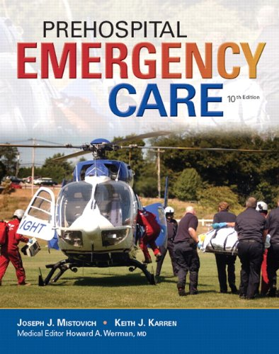 Prehospital Emergency Care:  10th 2013 edition cover