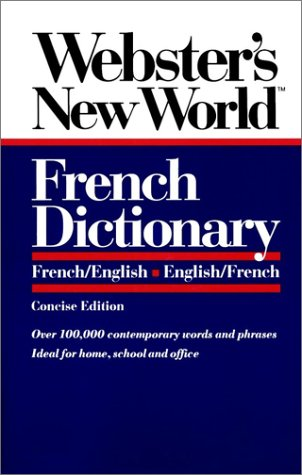 Webster's New World French Dictionary French/English English/French  1981 edition cover