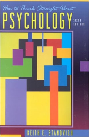 How to Think Straight about Psychology  6th 2001 edition cover