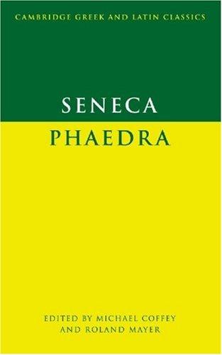 Seneca Phaedra  1990 9780521337137 Front Cover