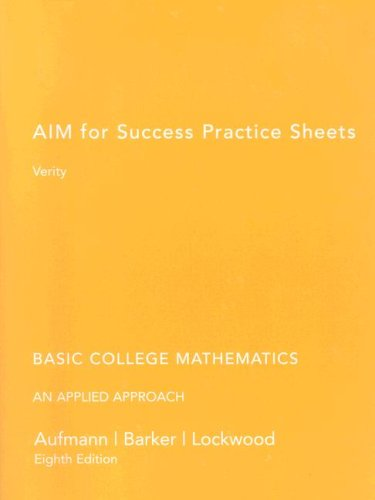 Basic College Mathematics  8th 2006 9780618895137 Front Cover