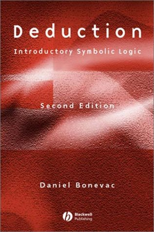 Deduction Introductory Symbolic Logic 2nd 2002 (Revised) edition cover