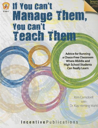 If You Can't Manage Them, You Can't Teach Them  N/A edition cover