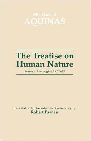 Treatise on Human Nature Summa Theologiae 1a, QQ 75-89  2002 edition cover