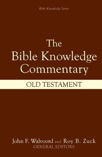 Bible Knowledge Commentary Old Testament  2001 edition cover