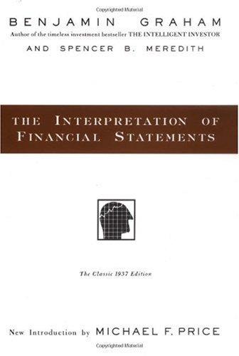 Interpretation of Financial Statements 1937   1998 edition cover