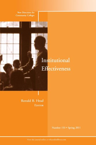 Institutional Effectiveness   2011 edition cover
