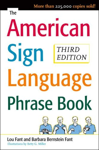 American Sign Language Phrase Book  3rd 2008 edition cover