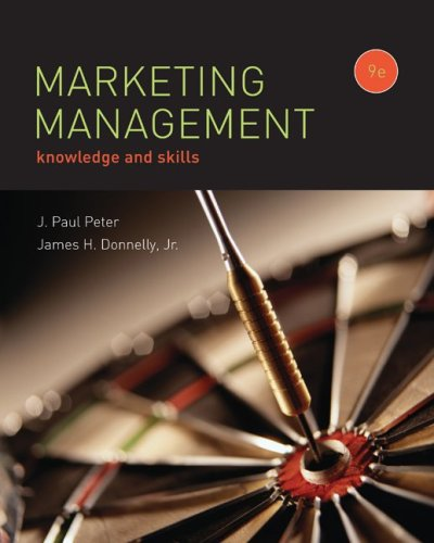 Marketing Management  9th 2009 edition cover