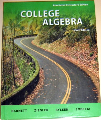 Annotated Instructor's Edition College Algebra N/A 9780077297138 Front Cover