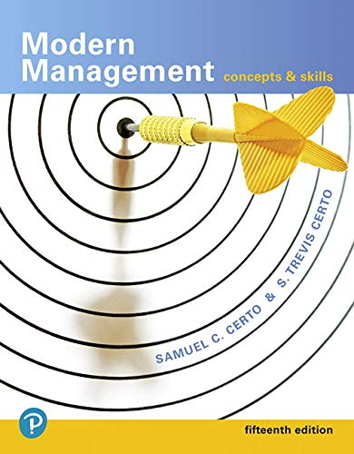 Modern Management: Concepts and Skills  2018 9780134729138 Front Cover