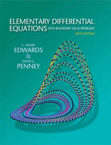 Elementary Differential Equations with Boundary Value Problems  6th 2008 edition cover