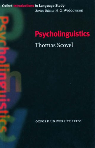 Psycholinguistics   1998 edition cover