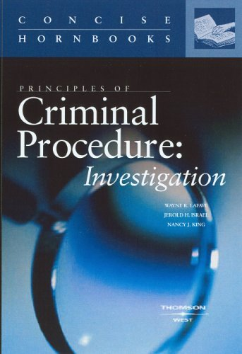 Principles of Criminal Procedure   2004 edition cover